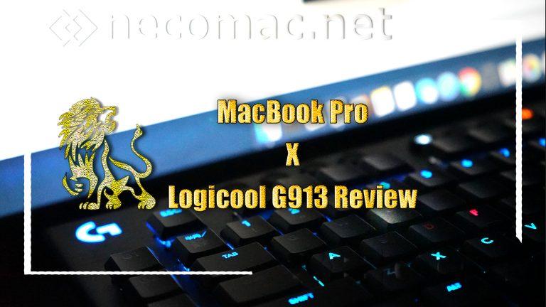 MacBook ProでG913 wirelessを使ってみた